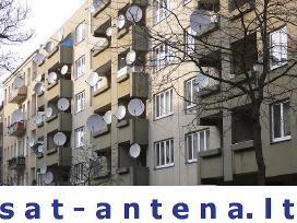 TV antenų montavimas, derinimas