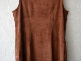Vikingiška ruda zomšinė berankovė suknelė