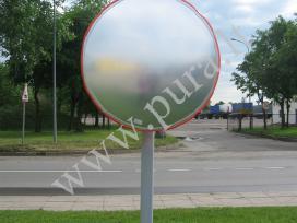 Naujas lauko stebėjimo sferinis veidrodis