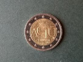 2 eurai, moneta Ačiū, skirta Lietuvių kalbai