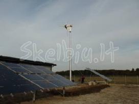 Saulės, vėjo elektrinės sodyboms