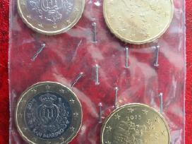 San Marinas 50 centų ir 1 euras 2014