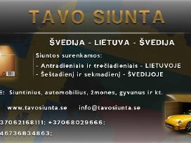 Siuntų gabenimas Lietuva - Švedija - Lietuva