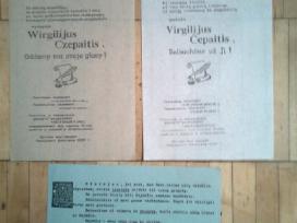 Virgilijus Cepaitis. plakatai, atsisaukimai. 1989m