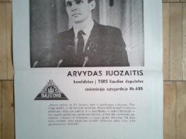 Arvydo Juozaicio rinkiminis plakatas. 1989m.