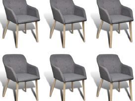 6 Ąžuolinės Valgomojo Kėdės vidaxl