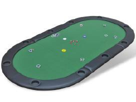 10 Žaidėjų Sulankstomas Pokerio Stalviršis, vidaxl