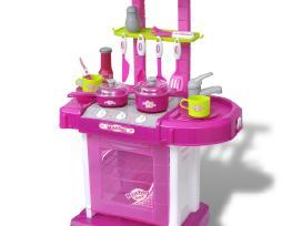 Žaislinė Virtuvė su Efektais Rožinė vidaxl