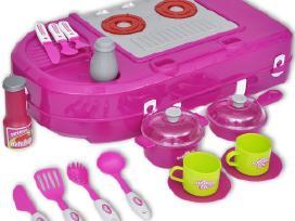Žaislinė Virtuvė su Efektais, Rožinė, vidaxl