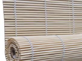 Roletas iš Bambuko, Natūralios Spalvos, 100 x 160