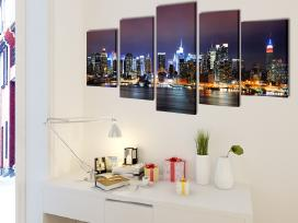 "Fotopaveikslas ""Niujorko Kontūrai"" ant Drobės"