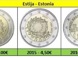 Estija 2 euro monetos Unc