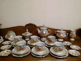 Servizas puodeliai lekštės porcelianas