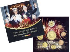 Belgijos Bu monetu rinkinys su nauju karalium