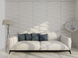 3D Sienų Plokštės, Banga, 0,625 m x 0,8 m, vidaxl