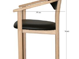 Ąžuolinės kėdės su porankiais (mini krėsliukai)