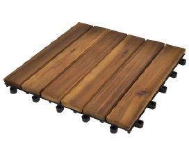 10 Medinių Plytelių iš Akacijos 30 x 30cm vidaxl