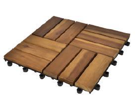 10 Medinių Plytelių iš Akacijos 30x30 cm vidaxl