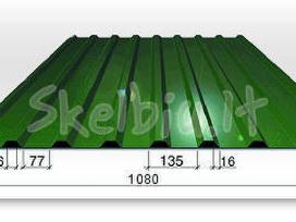 Skarda, stogo danga is Al/zn - tik 3,97eur/m2