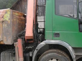 Pervežu krovinius savivarčiu su kranu.bobcat nuoma