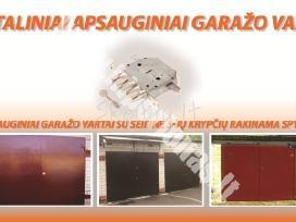 Metaliniai plieniniai apsauginiai garažo vartai