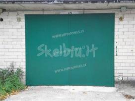 Metaliniai, plieniniai, apsauginiai garažo vartai