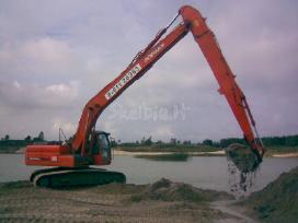 Ekskavatoriu buldozeriu nuoma tvenkiniu kasimas