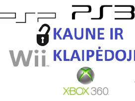 PS3, PSP, Xbox360 Wii atrišimas taisymas