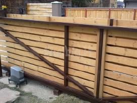 Medinės tvoros vartai statyba visoj lietuvoj