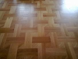 Parketo grindu klojimas slifavimas lakavimas
