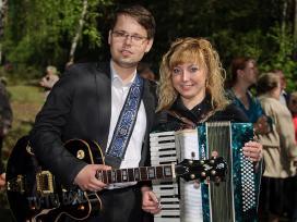 Muzikantai Violeta Cvirkaitė ir Maksas Bendelston