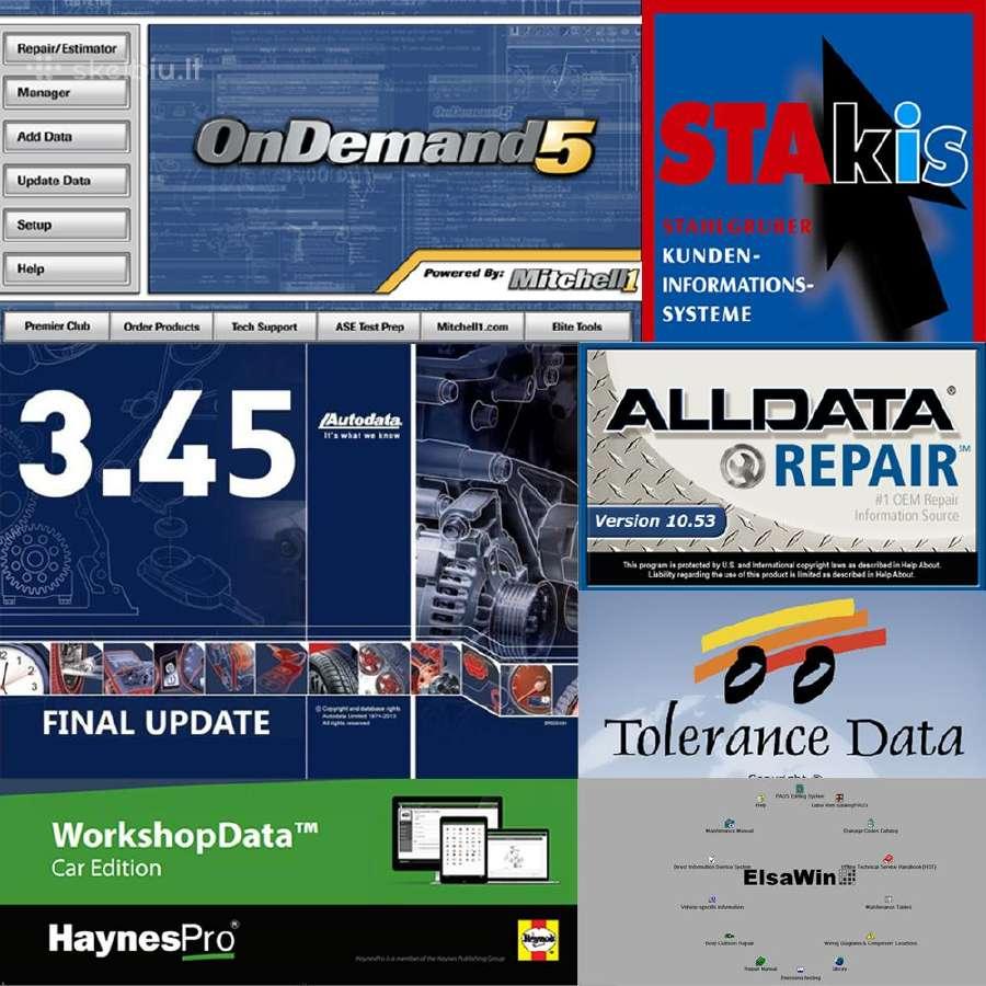 Autodata, Alldata, Mitchell Ondemand5 schemos