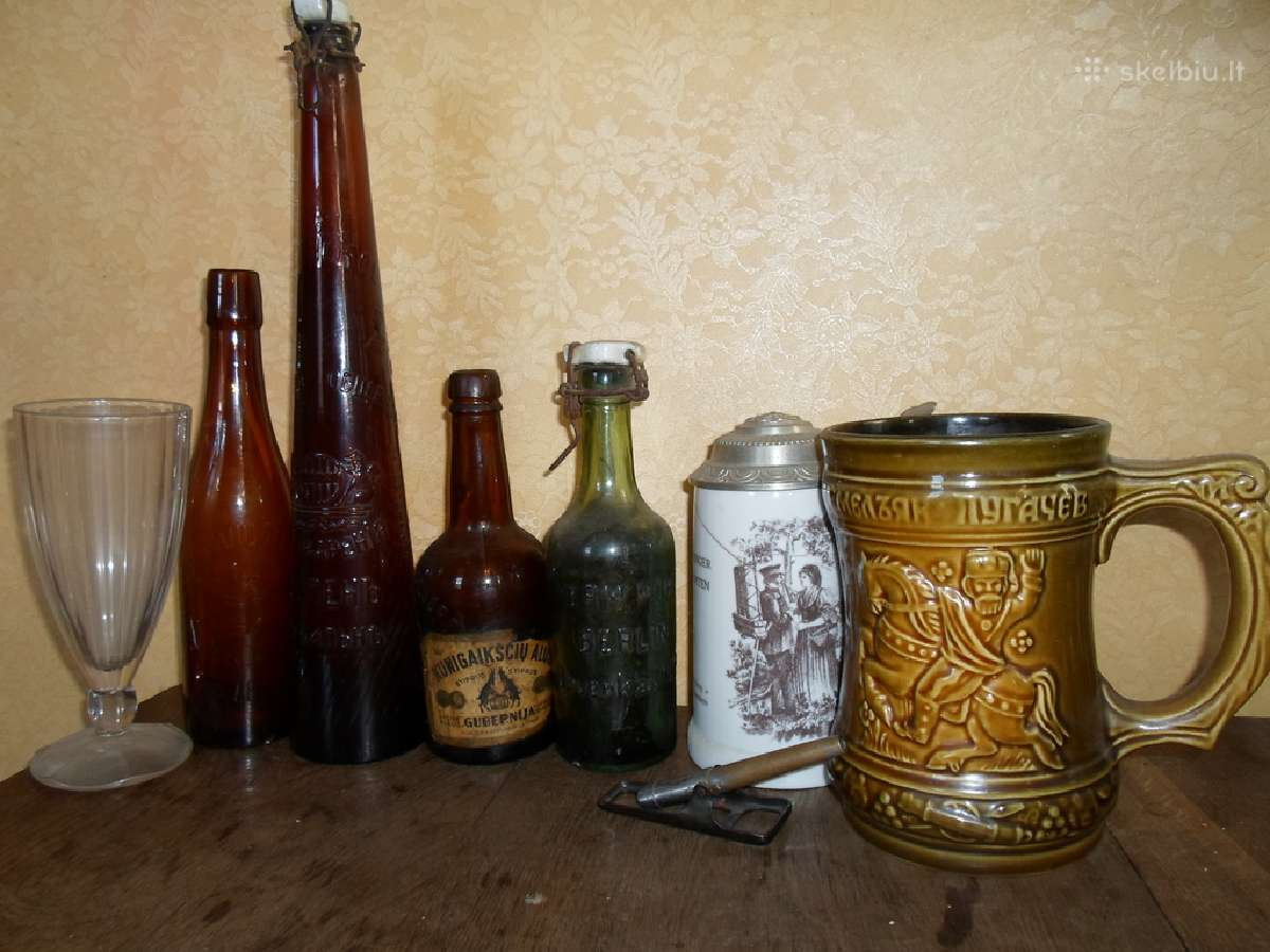 Perku senovinius   alus butelius