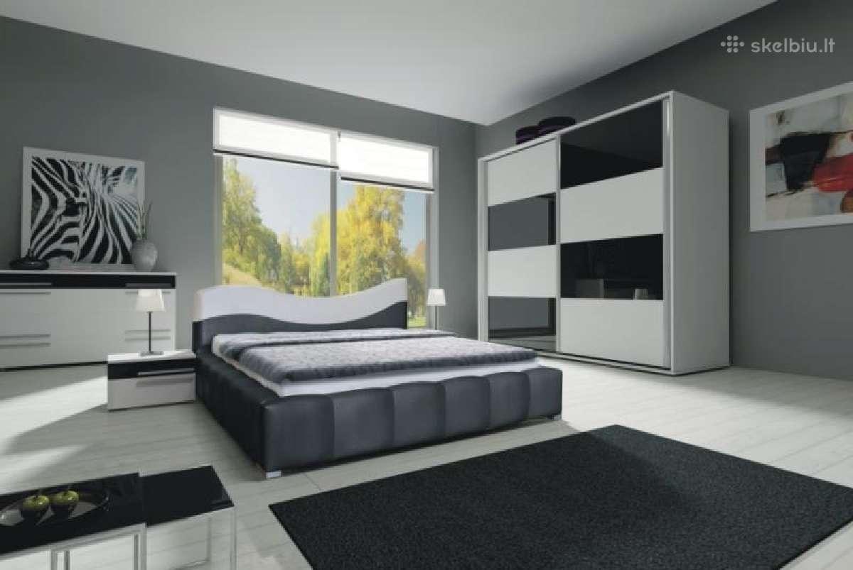 Miegamojo baldu komplektas Mio 1