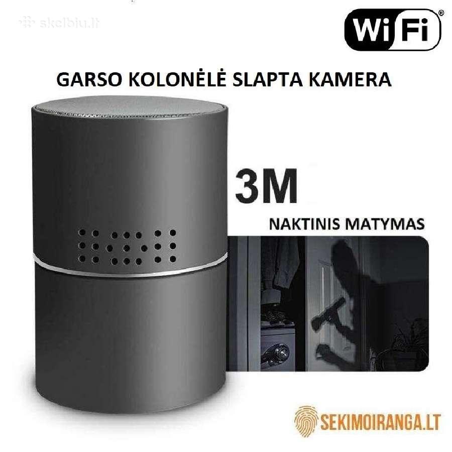 Slaptos kameros Wi fi Sekimo iranga GPS