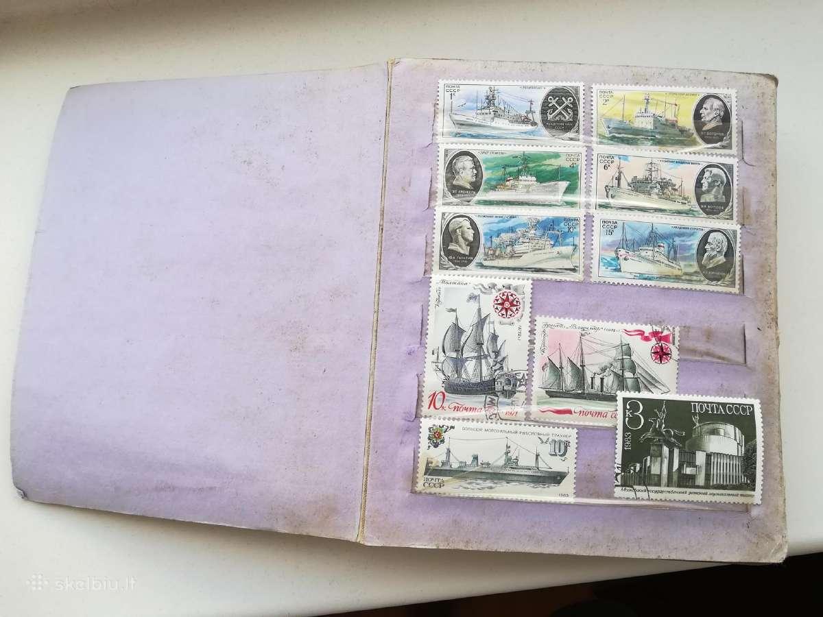 Pilnas albumas pašto ženklų( 260vnt sovietiniu)