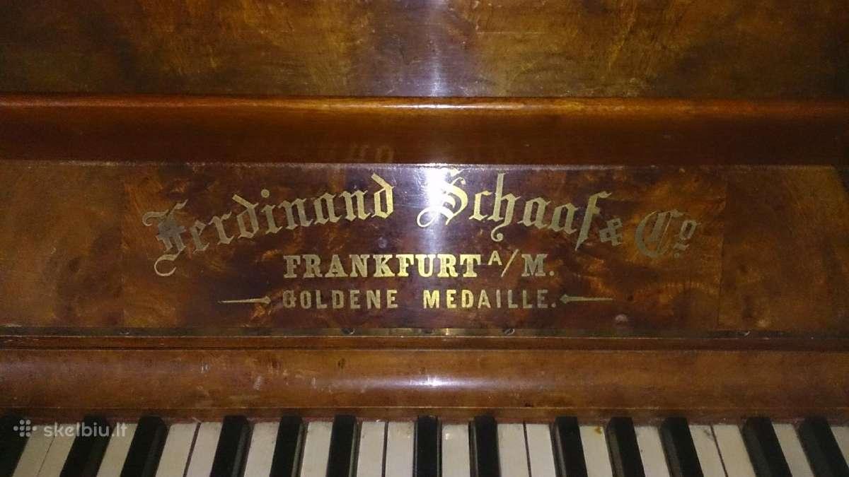 Pianina Ferdinand Schaaffe, Frankfurter M