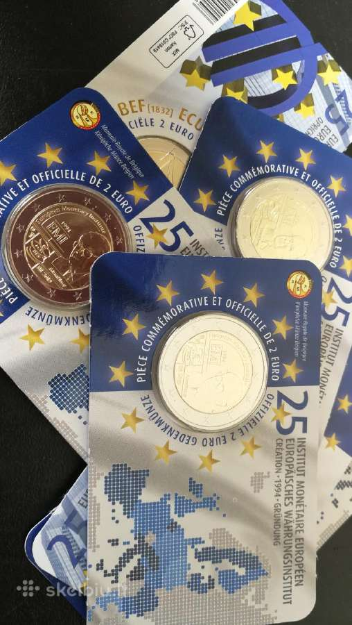 Belgija 2019 2 eurai korteleje
