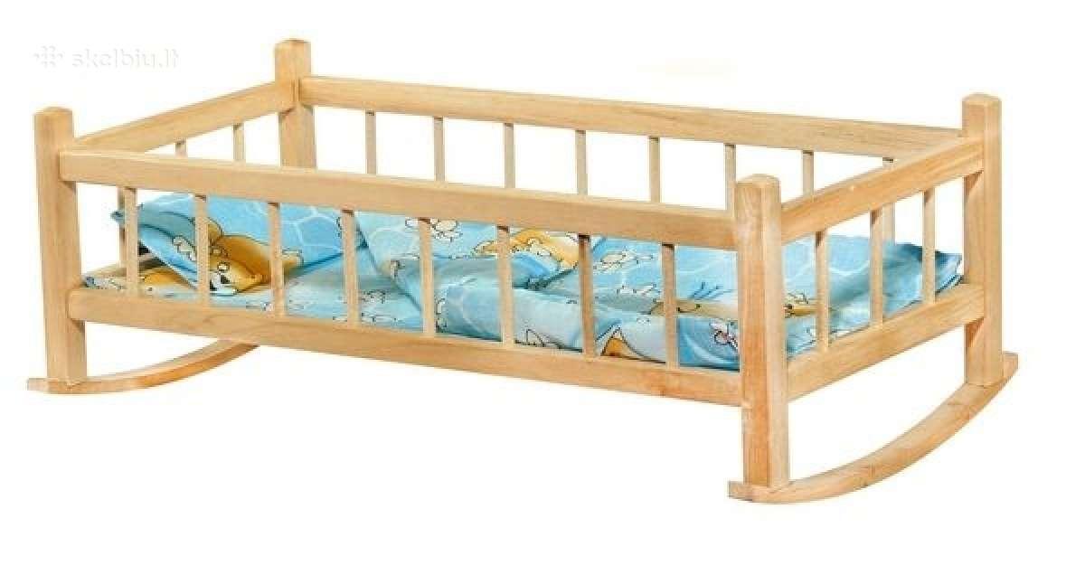 Medinė lovytė-sūpuoklinė lėlei - 12