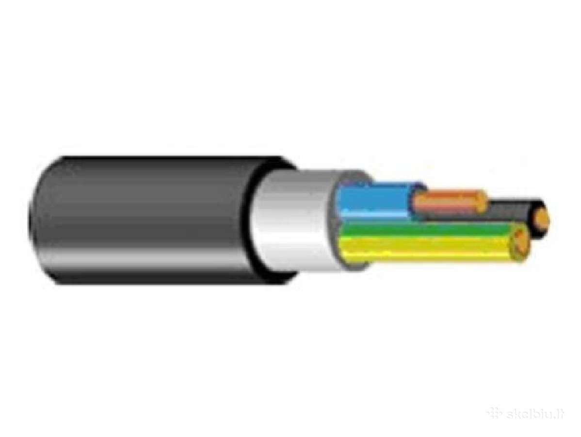 Kabelis varinis Cyky 5x6 - 2,20eur uz 1m.