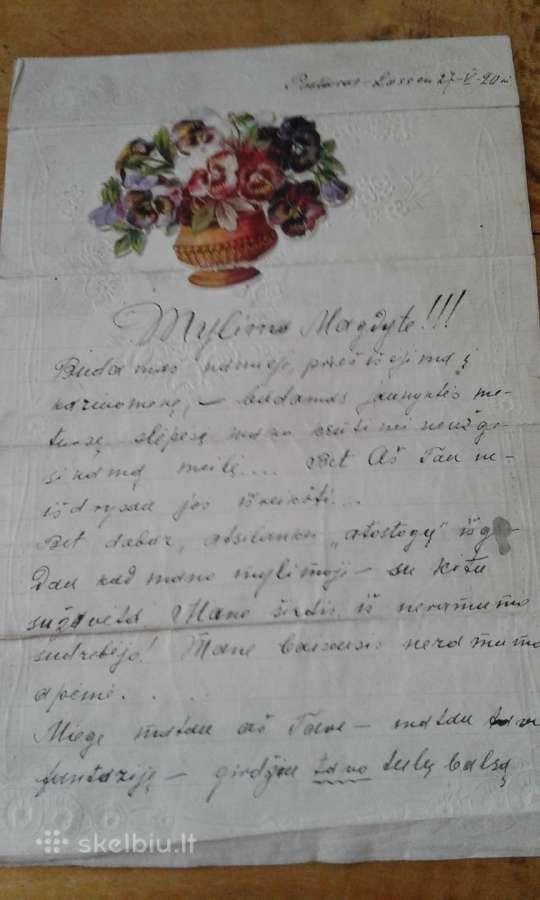 Laiškas kareivio-1920 m.j.brundzos ,3 dvz. stb.