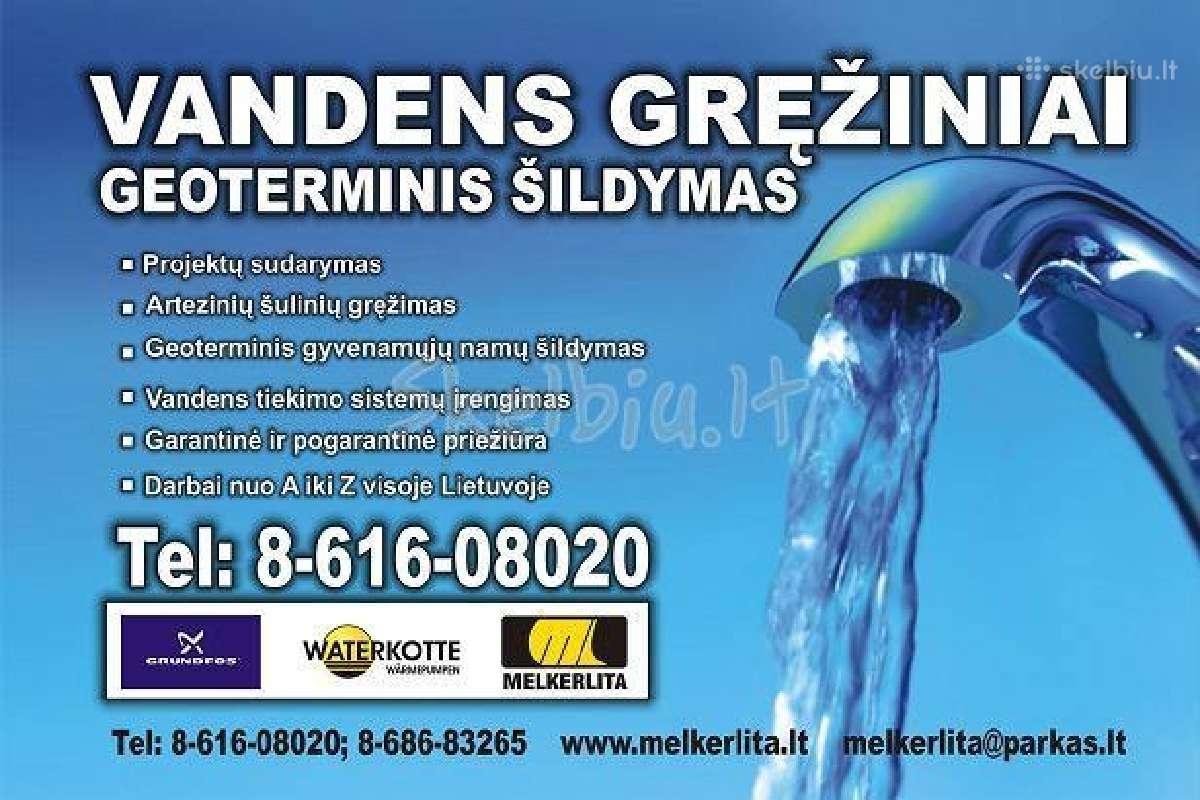 Arteziniai vandens gręžiniai, geoterminis
