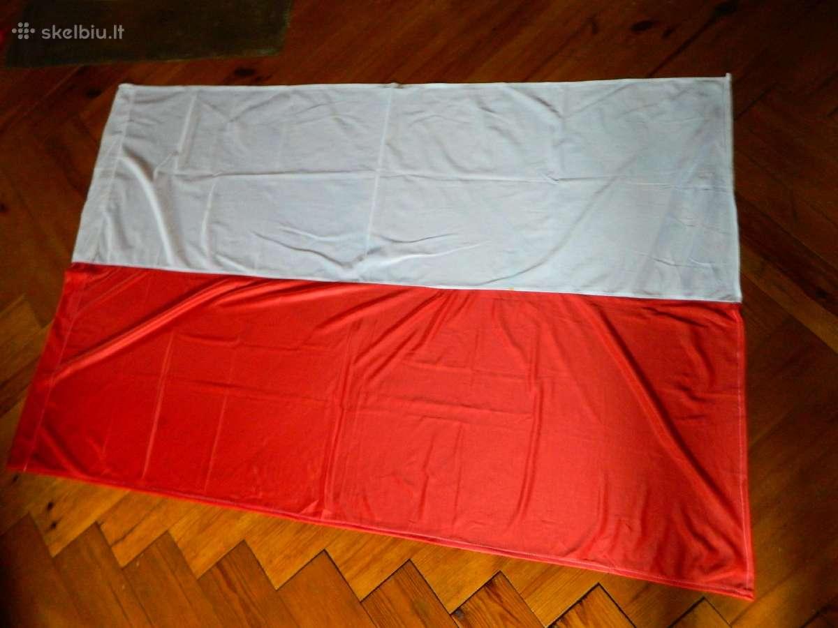 Lenkijos veliava ,silkine