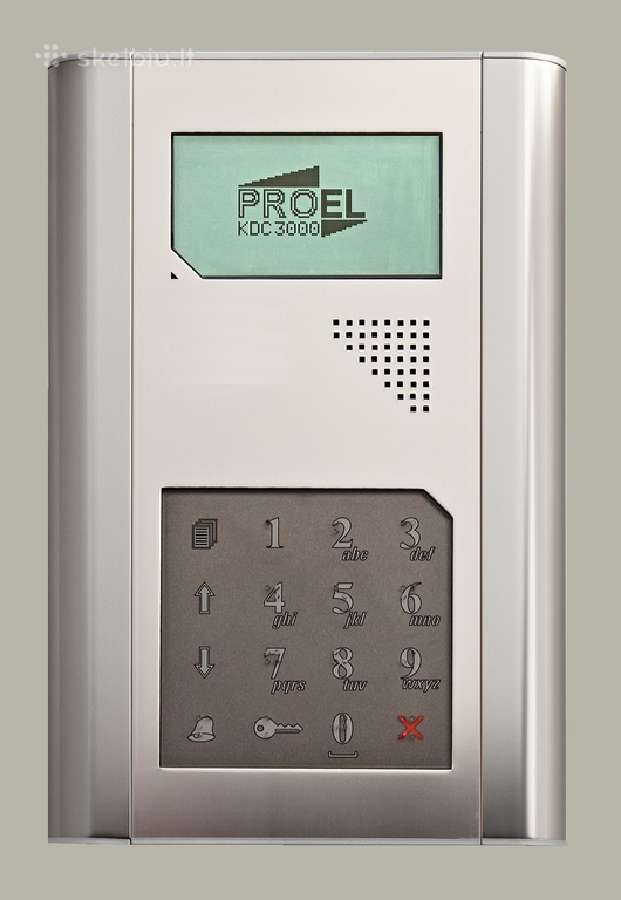 Modernios telefonspynės, metalinės durys.
