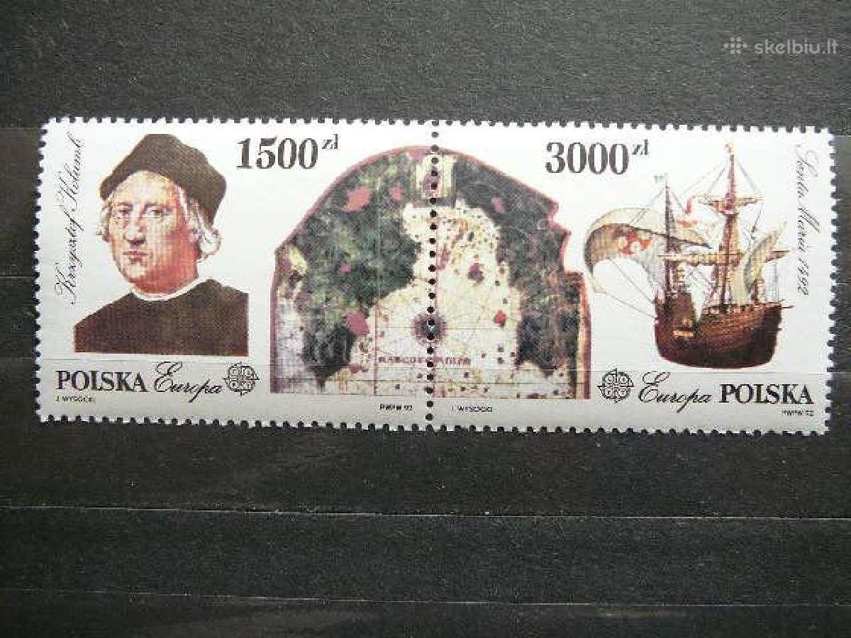 K. Kolumbas Burlaiviai Europa Lenkija svarus #