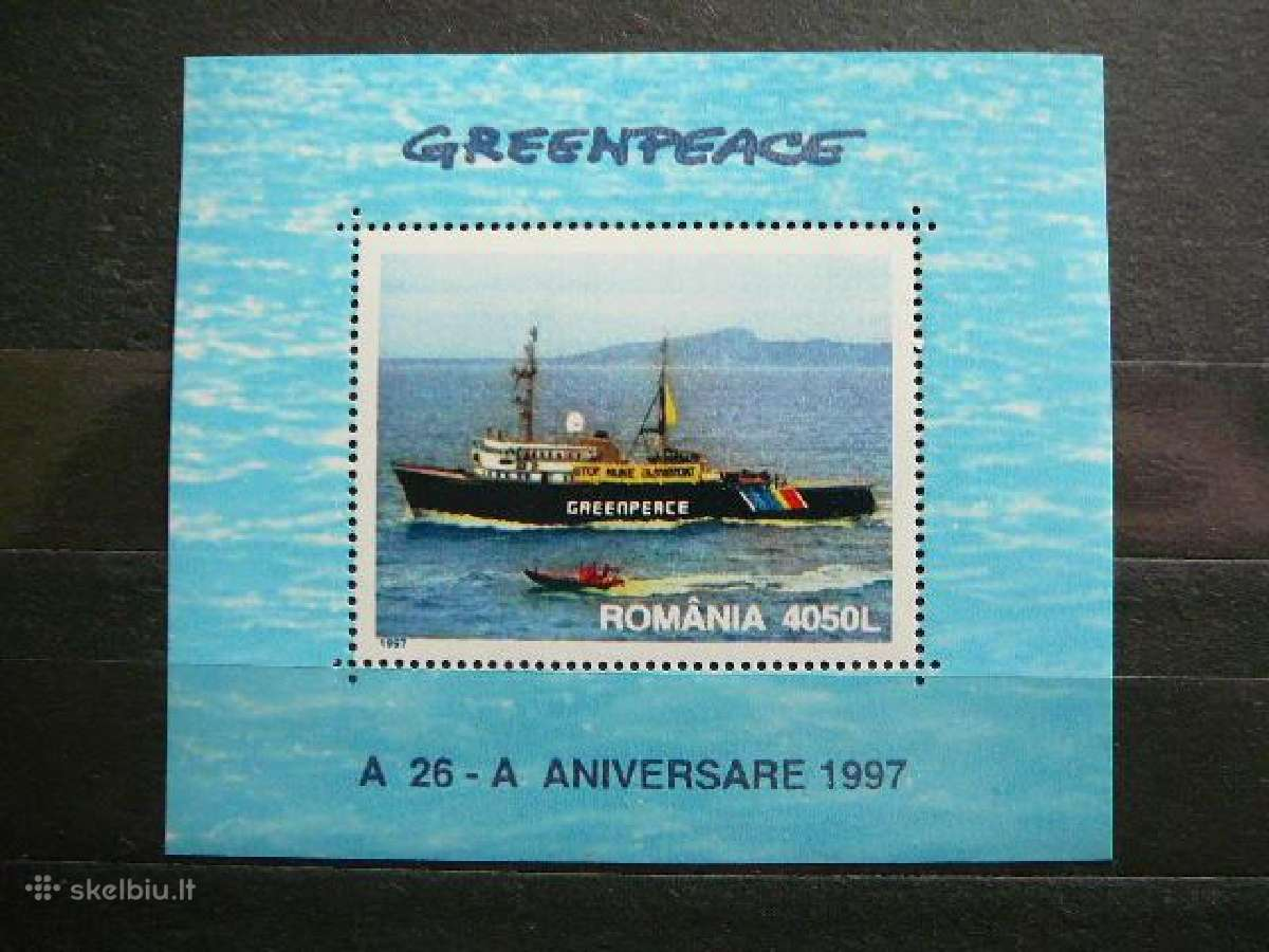 Laivai Greenpeace svarus # Rumunija