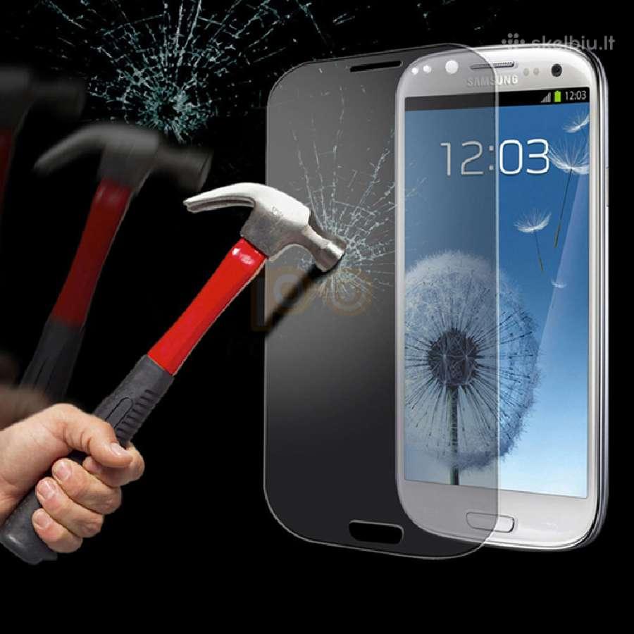 apsauginis stiklas telefono ekranui