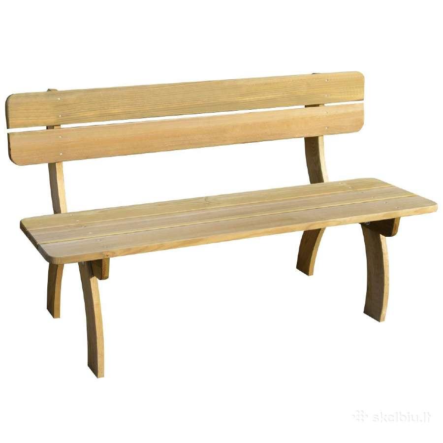 Plank 150 Cm.Vidaxl Sodo Suoliukas 150cm 41960