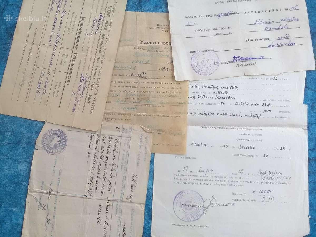 7 seni dokumentai