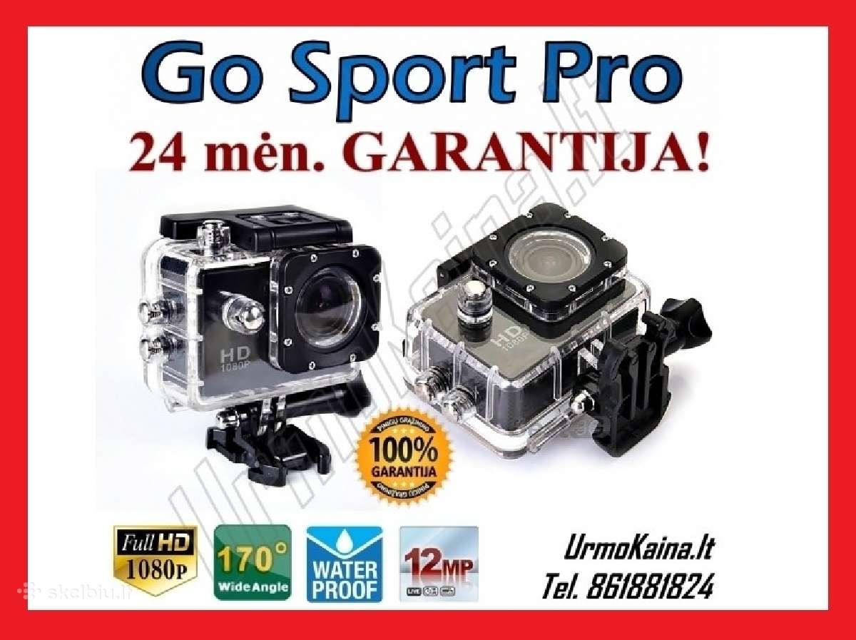 Go sport pro veiksmo kamera su garantija